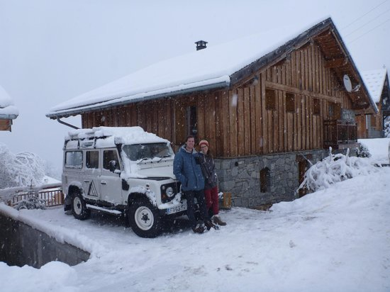Chalet Alpage: Richie & Nadine at the chalet