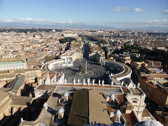 Cupola di San Pietro: View from the top 2