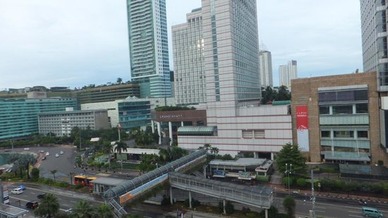 Pullman Jakarta Indonesia: outside view from the room