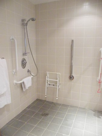 CityNorth Hotel: shower with no curtain