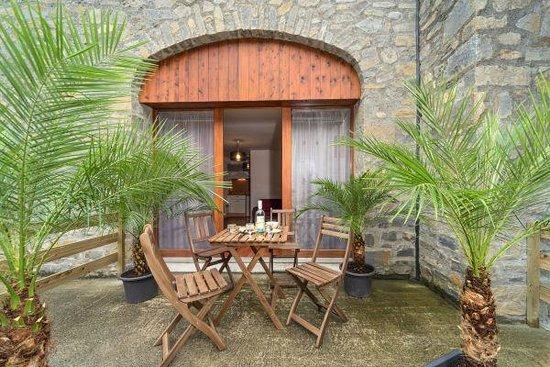 Residence Village Vignec : Terrasse extérieure de l'un des appartements