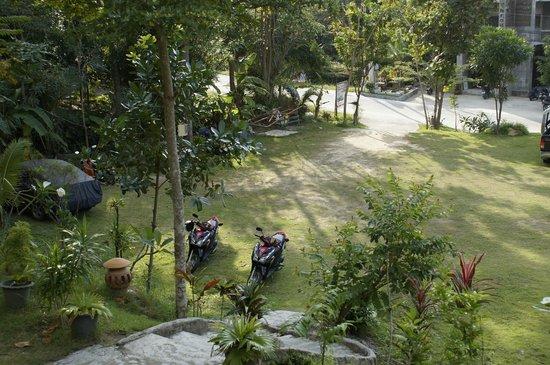 See Through Resort Haad Yao : территория возле нашего бунгало, пляж через дорогу