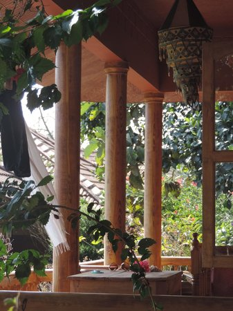 "Ayurveda Yoga Villa: View at the balkon of ""durga"""