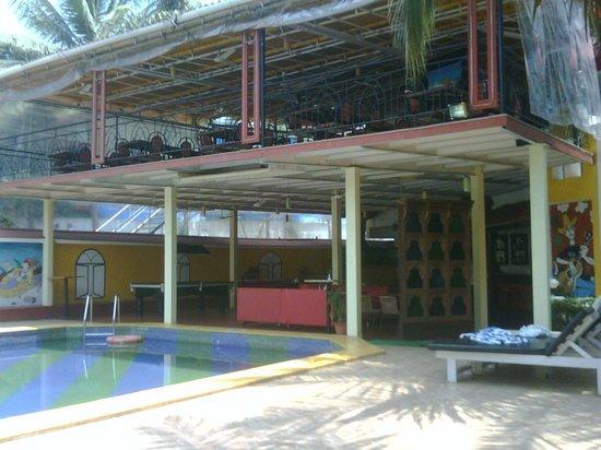 Alegria - The Goan Village: lower bar n upper dining deck