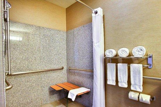 holiday inn express u0026 suites boise west meridian guest bathroom ada roll in shower