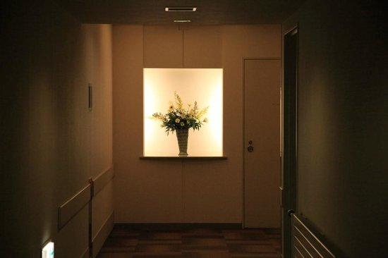 Hotel Ambent Tateshina: あちこちに花が飾られ