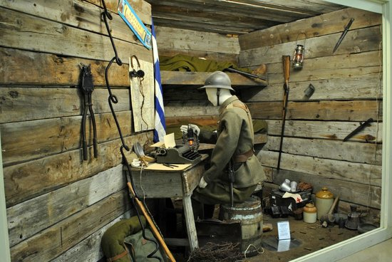 War Museum of Thessaloniki : Representation of a trench of the 1st World War