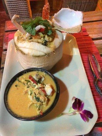 K beach : Coconut crab curry