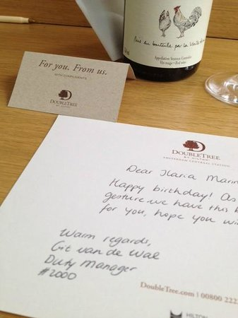 DoubleTree by Hilton Hotel Amsterdam Centraal Station: Regalo dell'hotel