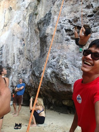 Railay Rock Climbing Shop - Day Adventures : Our guide taking selfies