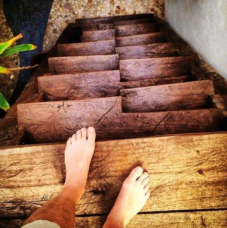 Mi Casa en Cozumel: Fun staircase to loft bedroom