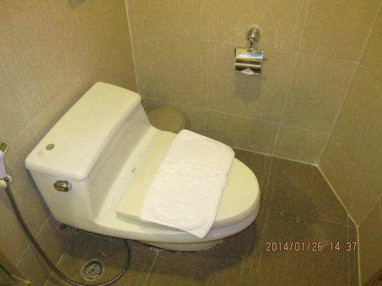 SM Grande Residence: トイレットペーパーが手元に有って使いやすい