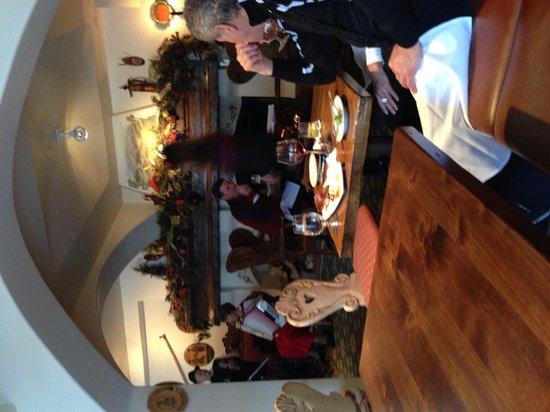 Goldener Hirsch Inn : Inside the restaurant