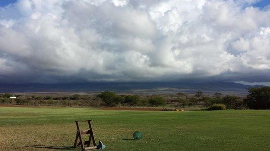 Maui Nui Golf Club : Driving Range view from tees