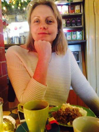 Cafe Babalu: Lovely little two story cafe serving savory crepes and a vegetarian chili.   Taking a break on o