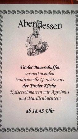 Alpenhotel Fernau: Immer wieder ein Hit: Das Bauernbuffet! Wir wählen die Reisedaten so, dass ...
