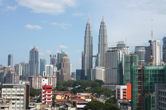 Q Hotel Kuala Lumpur : Distant view from 9th floor room.
