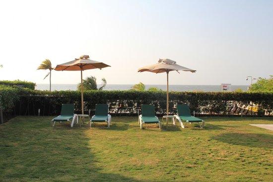 Holiday Inn Cartagena Morros : transat intérieur