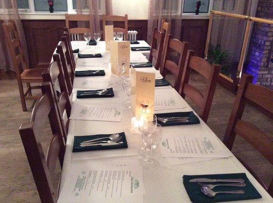 Firm of Eden Restaurant: Set for a celebration