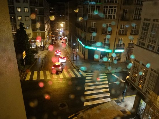 Hotel Herradura: Vista da janela do quarto - noite