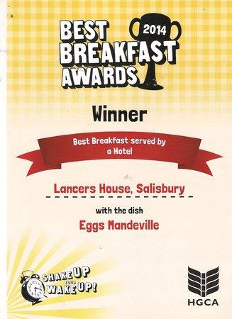 Lancers House: 2014 Best Breakfast Award
