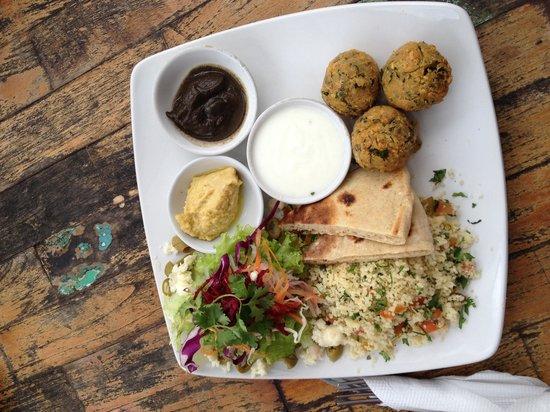 ViaVia: Veggie mezze platter- delicious and great size portion.