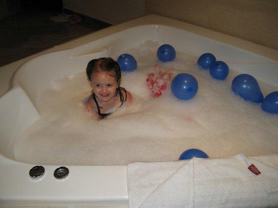 Bavaro Princess All Suites Resort, Spa & Casino: Kassie enjoying Dad's Birthday Decor