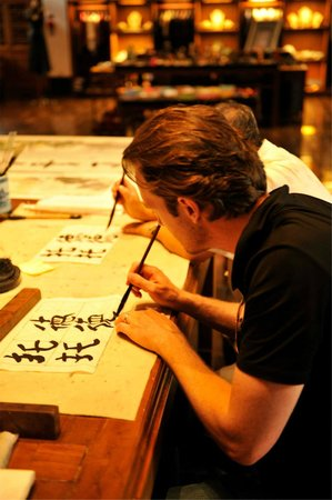 Aman Summer Palace : Chinese Caligraphy Class