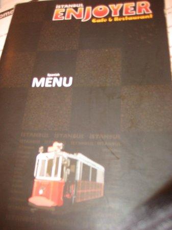 Istanbul Enjoyer Cafe & Restaurant: Enjoyer menú