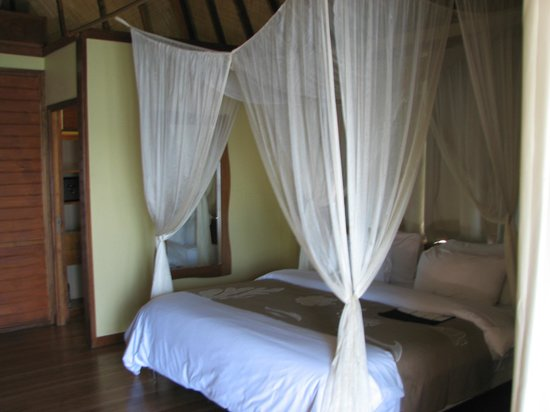 Le Meridien Tahiti: Didn't need the mosquito netting but it looked so romantic!
