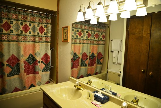 Inn at Silver Creek : Bathroom... curtain could use an update