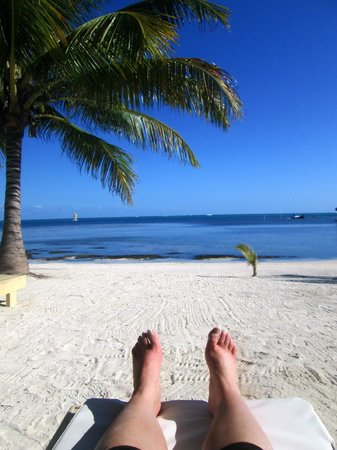 Exotic Caye Beach Resort: The day we arrived...our view everymorning