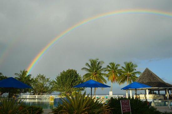 Turtle Beach by Rex Resorts: Rainbow after a rain shower