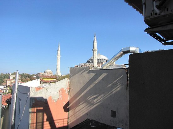 Ares Hotel Istanbul: Hagia Sofia view from balcony room 407