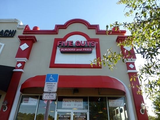 Five Guys: Frontage. Very simple good food.