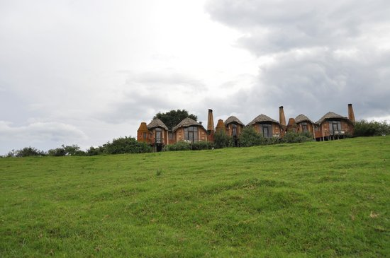 andBeyond Ngorongoro Crater Lodge : View of Guest Cottages
