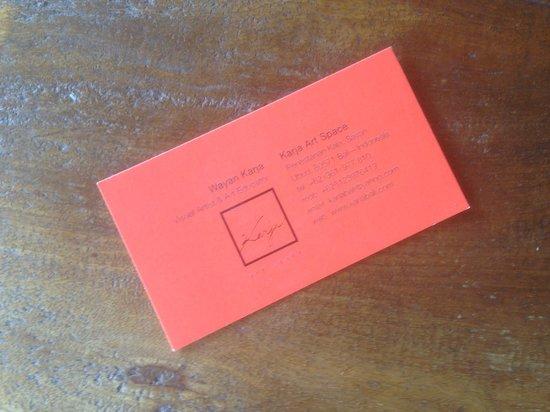 Santra Putra Guest House: Il biglietto da visita...