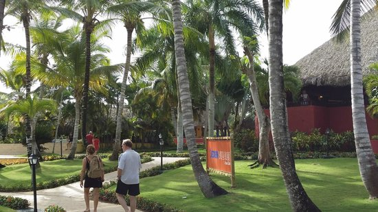 Catalonia Gran Dominicus : Walking to the main restaurant.
