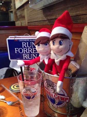 "Bubba Gump Shrimp Co. : We love the ""run forest run"" and ""stop Forrest stop"" signs to let the waitstaff know when you ne"