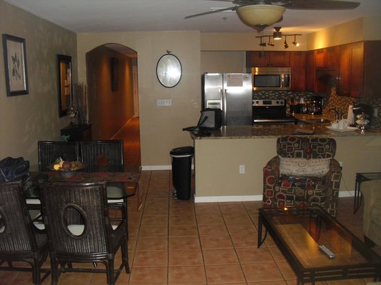 Windancer Condominiums: looking into the kitchen