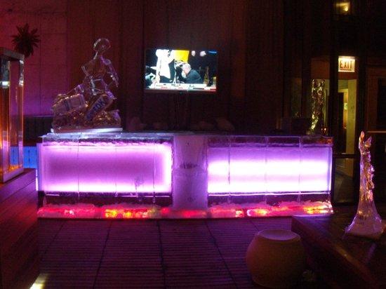 Vertigo Sky Lounge at the dana Hotel: Ice Bar
