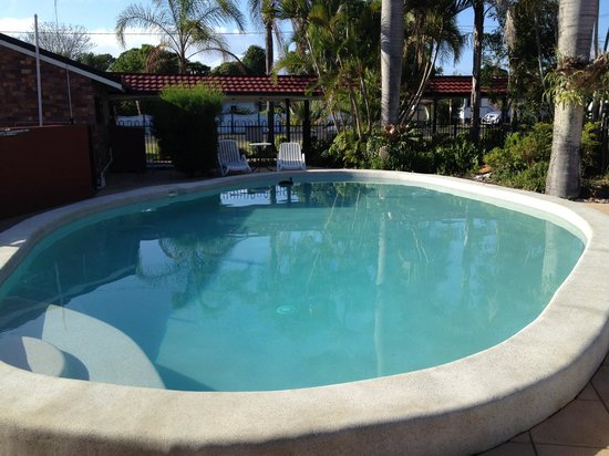 Hervey Bay Colonial Lodge: Pool, with a duck early in the morning