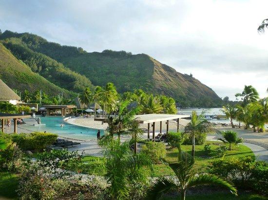 InterContinental Moorea Resort & Spa: Vue depuis notre chambre Lanai ocean