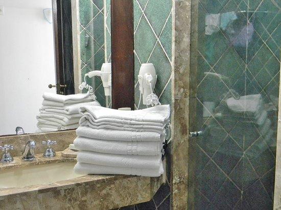 Colonna Park Hotel : parte del baño
