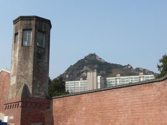 Seodaemun Prison History Hall: Guard tower and wall.