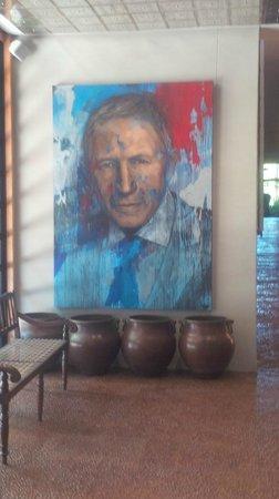 Delaire Graff Restaurant : Mr Graff keeps an eye on visitors!
