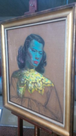 Delaire Graff Restaurant : Tretchikoff's 'Chinese Girl' bought by Graff for $1.5m is on display