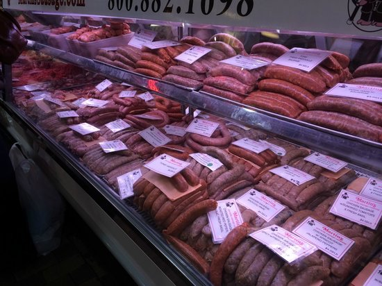 Reading Terminal Market: Sausage!!!!