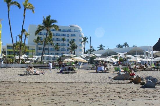 Hilton Puerto Vallarta Resort: Beach side view