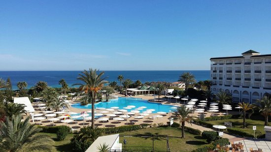 El Mouradi Palm Marina: The view from our balcony
